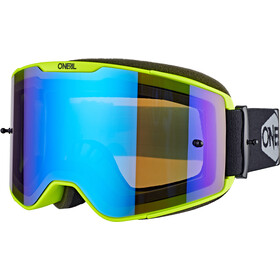 O'Neal B-20 Maschera Plain, neon yellow/black-radium blue